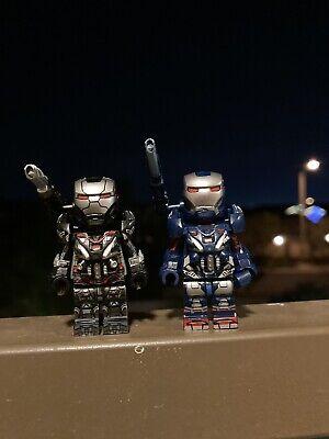 Lego Marvel Superheroes Minifigures Iron Man Iron Patrion And War Machine Figure