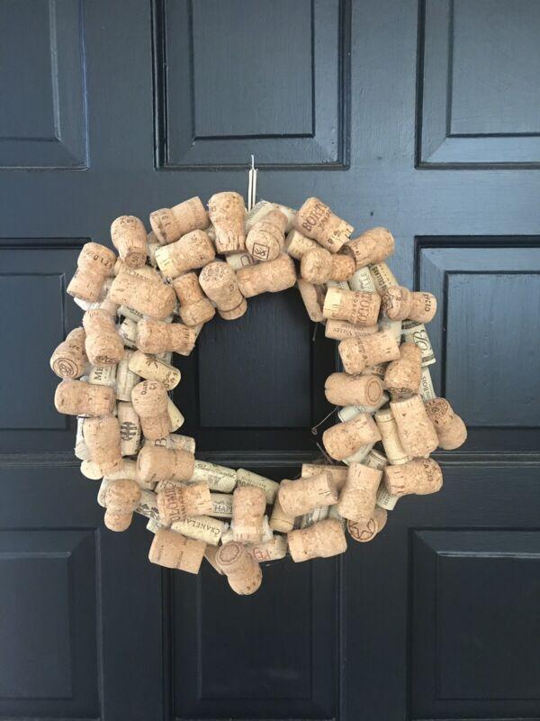 Handmade Champagne and Wine Cork Wreath - Small