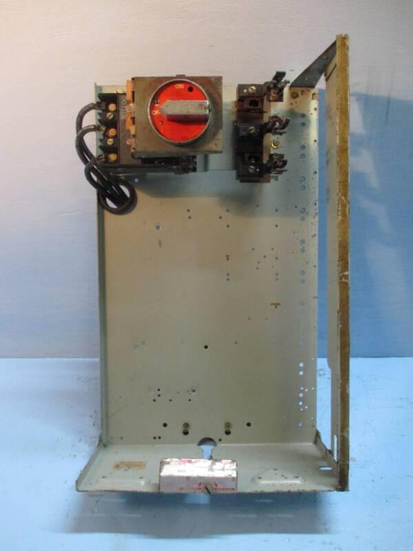 "General Electric GE 7700 Series 100 Amp 24"" Fused Feeder MCC MCCB Bucket 100A"
