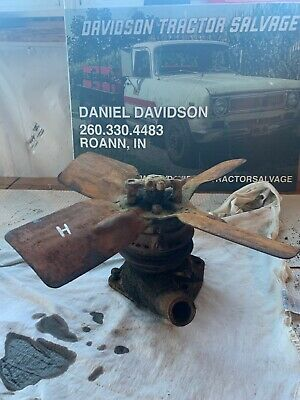Farmall H Hv Early Sh Tractor Ih Engine Motor Water Pump Fan Assembly H