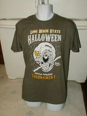 CSULB California State University at Long Beach Halloween Volleyball t shirt new - Halloween At Universal