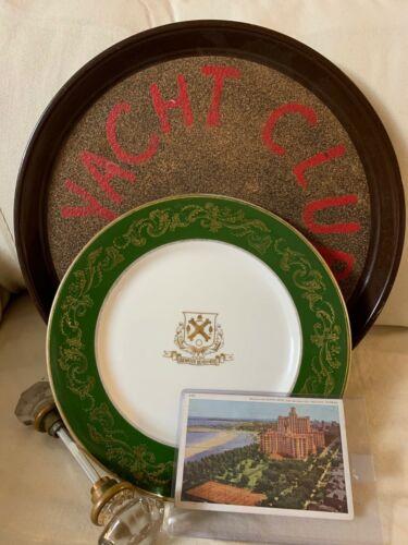 EDGEWATER BEACH Sheridan Chicago YACHT CLUB PLATE Historic KNOBS PC HOTEL 1944