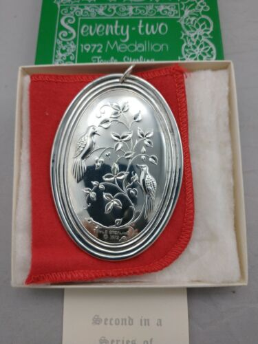 Towle 1972 Twelve Days Sterling Silver Christmas Ornament MINT w/Box, Brochure