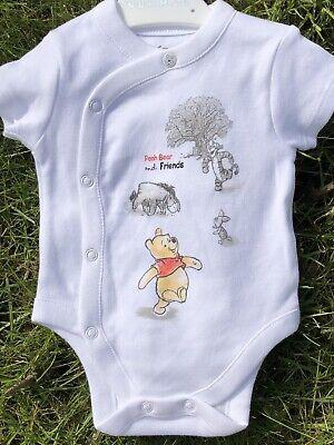 Baby Girls Boys Vest Disney Winnie Pooh 5-8lbs Newborn 0-3 3-6 Mths 100% Cotton
