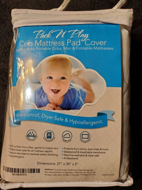 Pack N Play White Crib Mattress Pad Cover