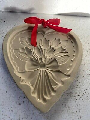 Vintage Hill Design 1989 Brown Bag Tulips Flowers Cookie Art Mold New Old Stock