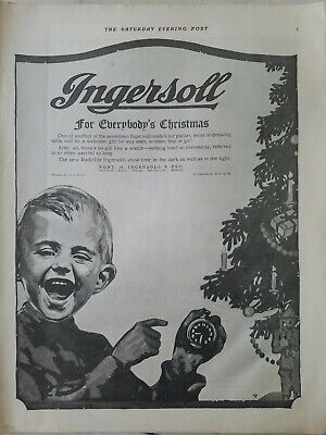 1917 Robert H Ingersoll boys pocket watch for everybody's Christmas vintage ad