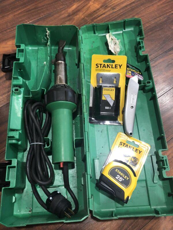 Leister Triac S Hand Welder Roofing Stanley 25' Tape Knife Blades
