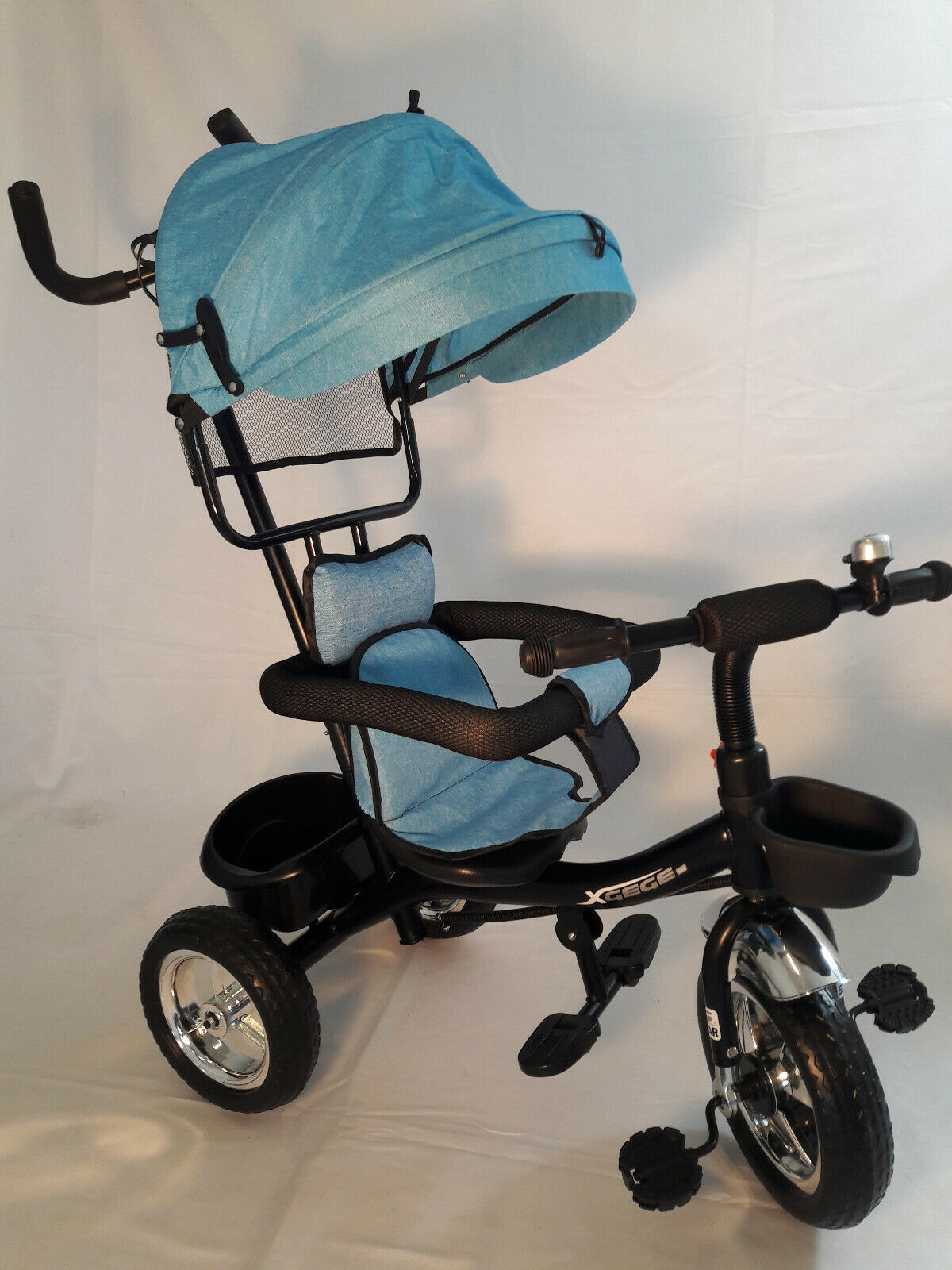 Dreirad für Kinder, Kinderdreirad mit Schubstange Tricycle mit Lenk stange