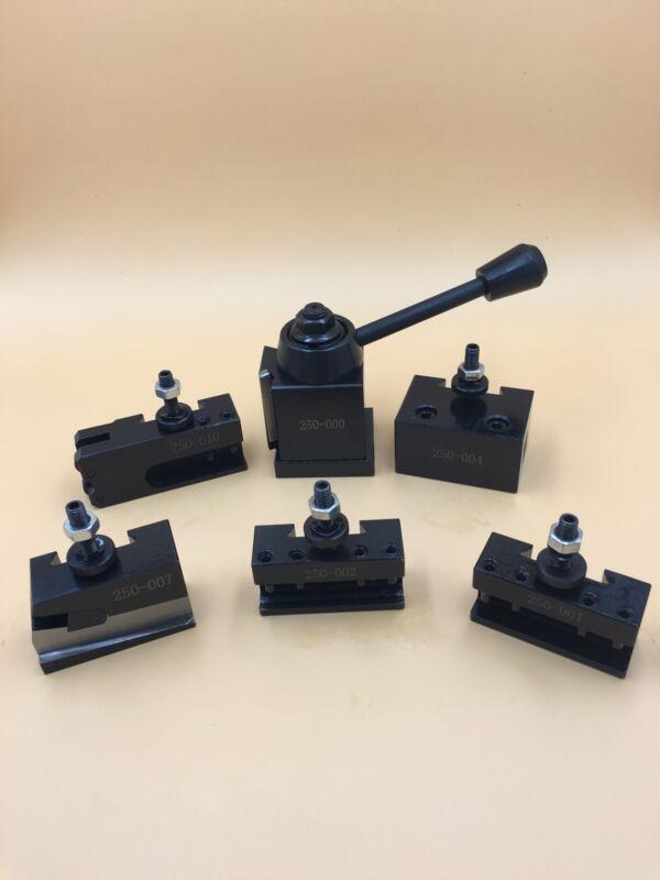 "OXA TOOL POST SET 6-9"" SWING MINI QUICK CHANGE CNC LATHE HOLDER Steel Model"