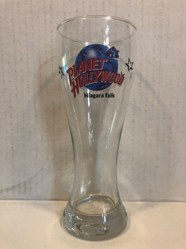 Planet Hollywood Niagara Falls Beer Pilsner Bar Pub Restaurant Clear Drink Glass
