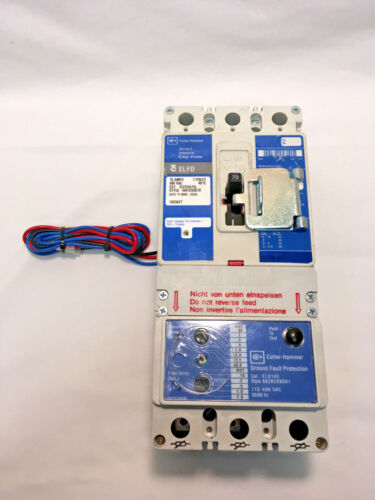 Cutler-Hammer ELFD3070L 70 Amp 480 Volt 3 Pole Earth Leakage Circuit Breaker