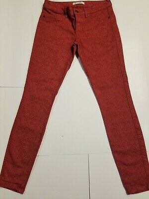 Rich & Skinny Jeans - Women's Red Floral Paisley Design Jeans - Denim size 27 ()