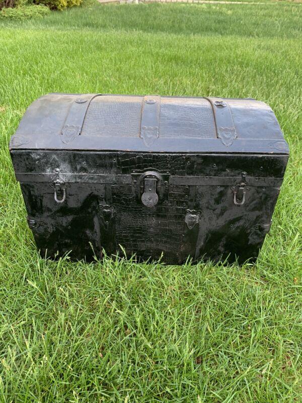 Vintage Chest Storage Treasure Box Large Reptilian Style Organization