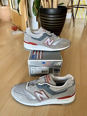 NEW BALANCE M 997 CGR Pumice Stone Made In USA Grey Red UK 9 BNIB 990 998 991