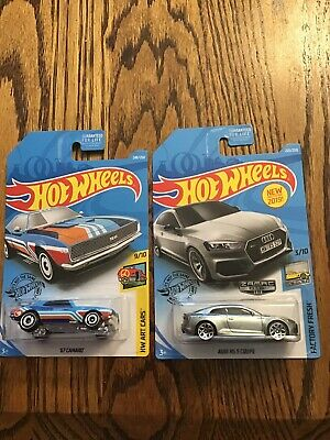 Two 2019 Hot Wheels 67 Camaro Tresure Hunt And Audi RS 5 Coupe Zamac