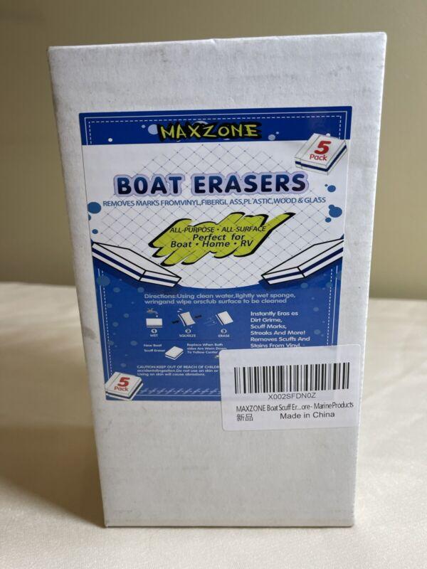 Premium MaxZone Boat Erasers 5 Pack Boat, Home, RV Scuff Sponge Marine Products