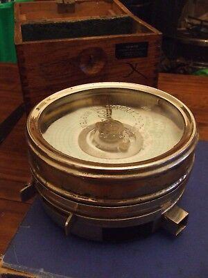 Antique Toulet Imperator racing pigeon timer/clock in original case.