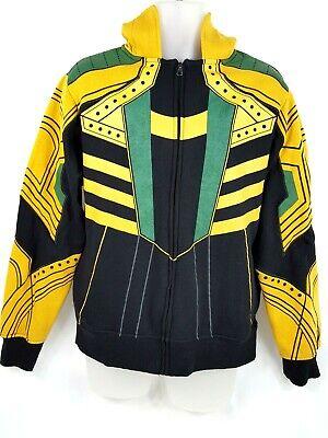 Loki Avengers Hoodie Full Zip Sweater Marvel Sweatshirt Horns Shirt Mens Small