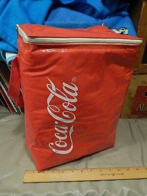 Coca-Cola Classic ~ Coke ~ Vtg Retro Vinyl Insulated Cooler Bag w/ Handle ~ Ltd