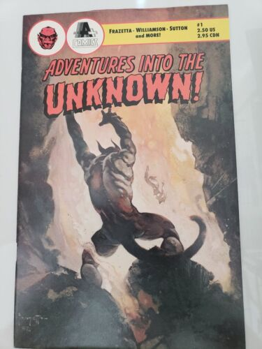 ADVENTURES INTO THE UNKNOWN! #1 (1990) A+ COMICS FRANK FRAZETTA COVERS! RARE!