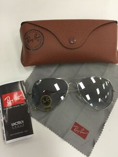 New Authentic Grey Ray Ban Aviator Sunglasses Large 62 Mens East Gosford Gosford Area Preview