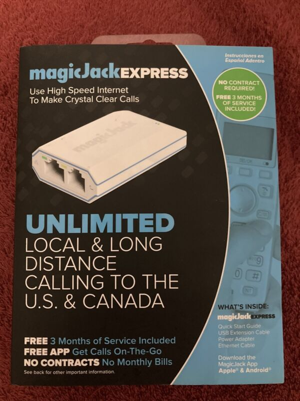 Best Magic Jack EXPRESS Digital Phone VoIP Service 3 Months of Service NEW