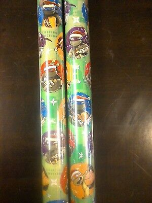 Teenage Mutant Ninja Turtles TMNT GIFT WRAP WRAPPING PAPER ROLL 40 SQ. FT