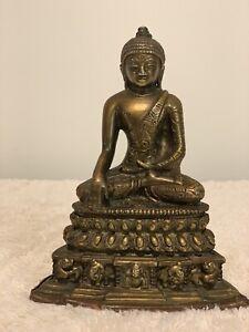 Bronze Antique Meditating Buddha Statue