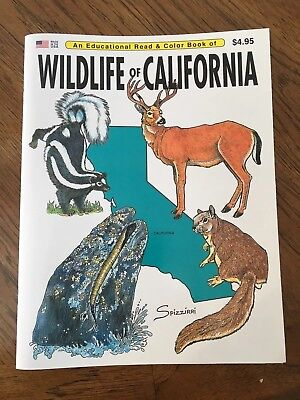 Wildlife Of The California - An Educational Read & Color Book / Great For Kids!