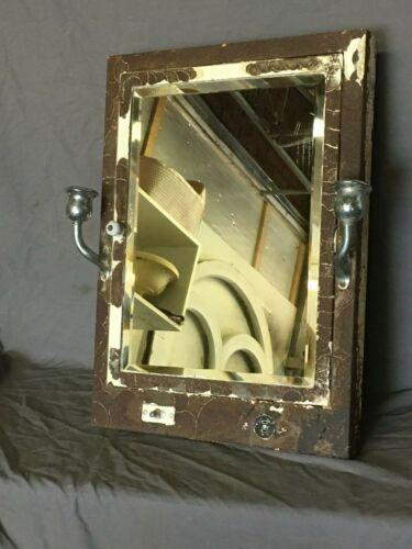 Vtg Industrial Recessed Medicine Cabinet Chrome Sconce Beveled Mirror 383-19E