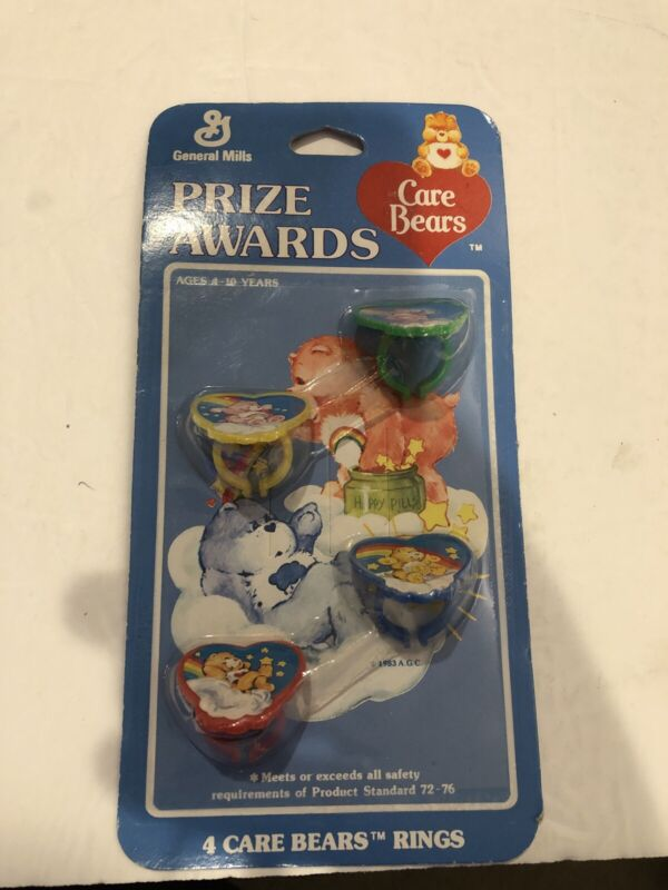 General Mills Prize Awards 4 Care Bears Rings