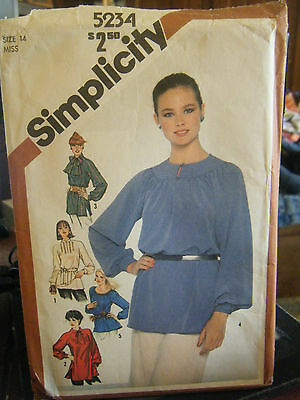 Vintage Simplicity 5234 Set of Pullover Tunics in 2 Lengths Pattern - Size 14
