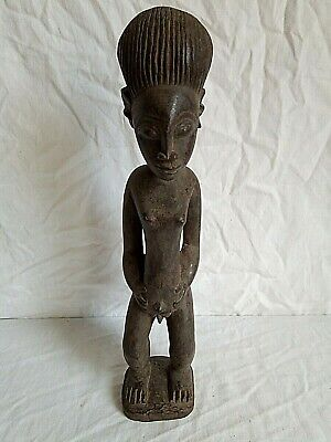 Antique Figure African in Wood H 36,5 CM