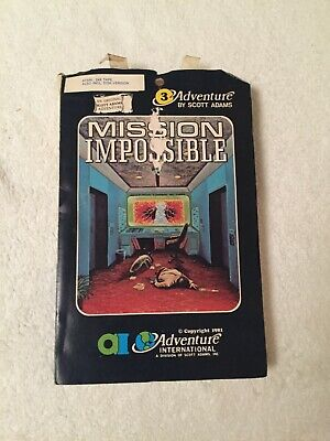 Mission Impossible - Scott Adams Adventure International - Atari - Very Rare