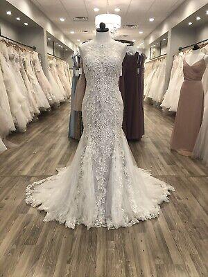 Maggie Sottero & Midgley Wedding Dress Juno Ivory/Lavender Size 12 Lace -