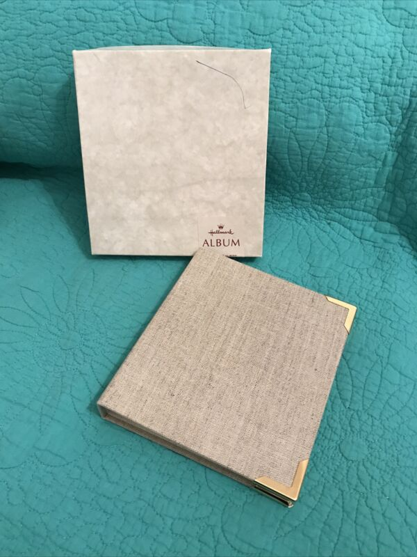 NIB Vintage Hallmark Binder Album Address Book•Linen/Metal Corners
