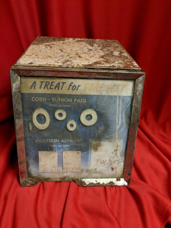 Antique Johnson & Johnson Pharmacy Bunion Display Case w/ Contents - FULL