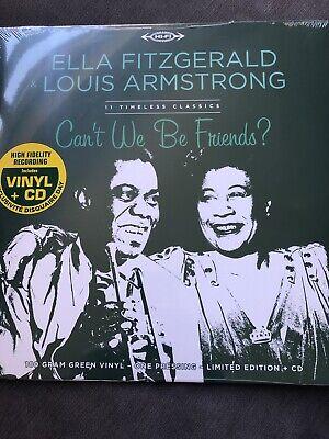 Ella Fitzgerald & Louis Armstrong Cant We Be Friends COLOR VINYL LP+CD...