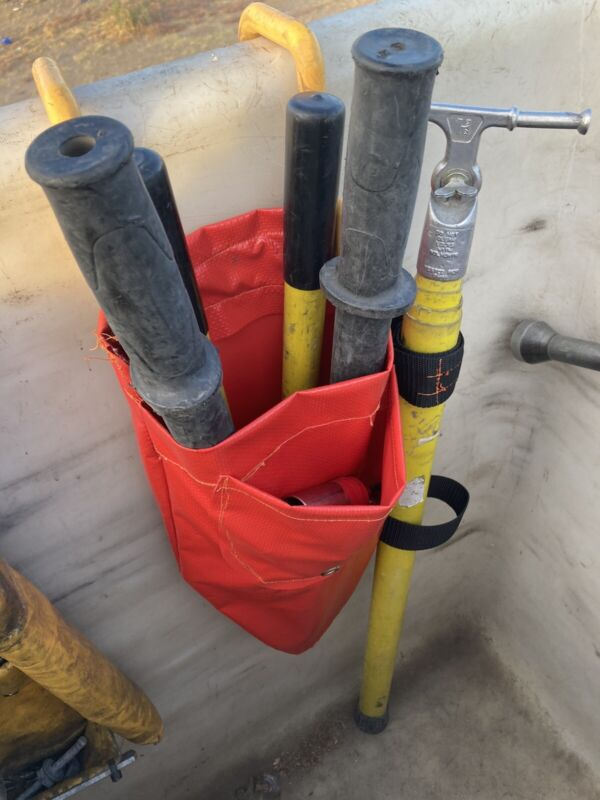 Lineman Bucket Bag, Compression Tool/ACSR Cutters Holder,With Short Stick Holder