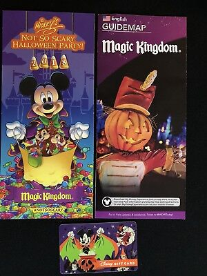 Disney Magic Kingdom Guide Mickey's Not So Scary Hallowee Brochure 0 Value Card ](Disney Hallowee)