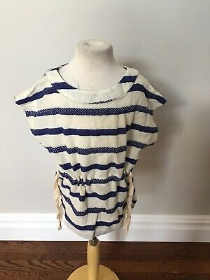 Bellerose Tie Tunic Top 6 Nwt