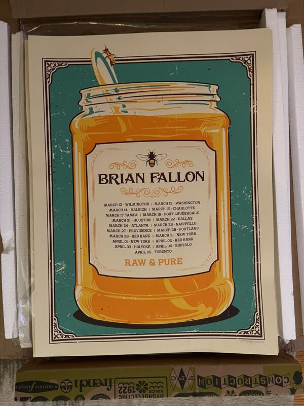 Brian Fallon Local Honey Tour Poster March 2020