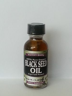 Pure Black Seed Oil 1oz (30ml) Cold Pressed 100% USDA Organic Nigella Sativa
