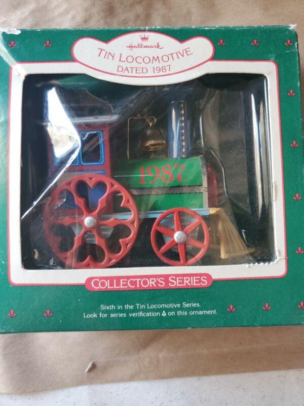 Hallmark Locomotive Tin Locomotive 1987 Series Christmas Ornament