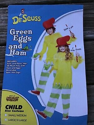 Spirit Halloween Large XL child Sam I Am Costume - Dr. Seuss Green Eggs and Ham