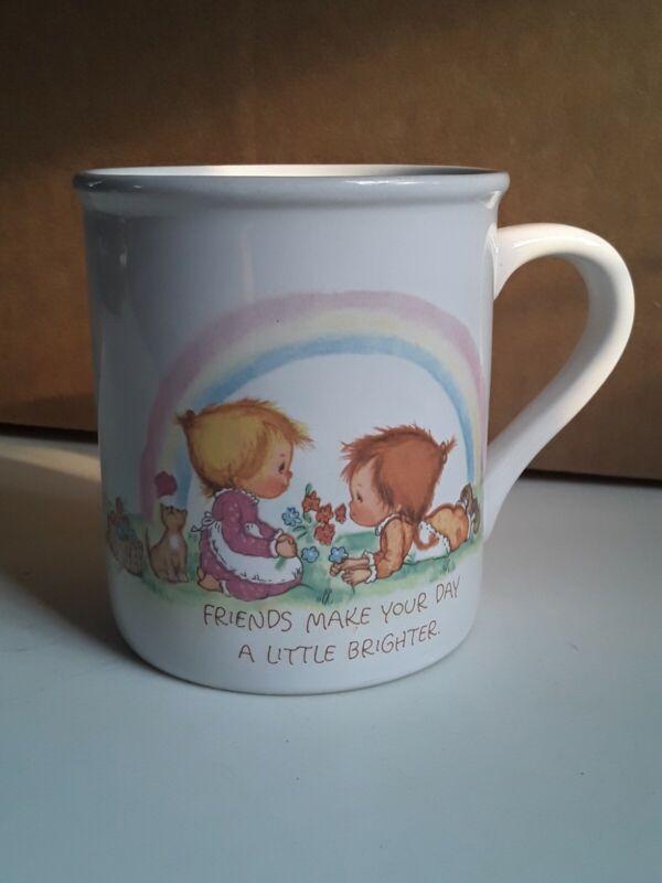 1983 BETSEY CLARK Mug Mates HALLMARK Friends Make Your Heart Lighter, Brighter