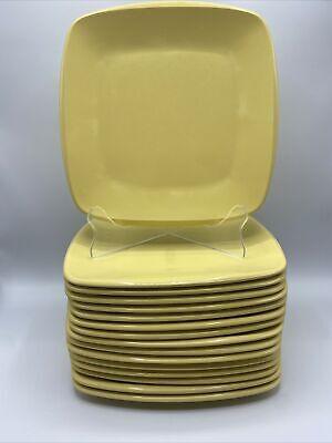 "MCM Melmac Melamine Harmony House ""Talk of the Town"" 10"" Dinner Plate Yellow"