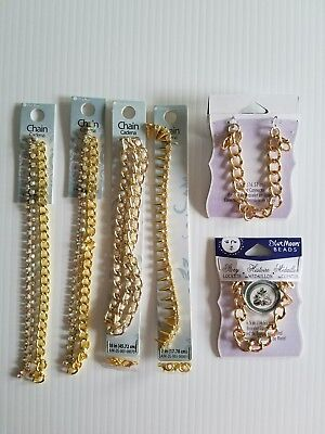 Mixed Jewelry Findings/Chain Lot -Blue Moon Brand Gold Plated ()