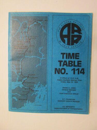 Alaska Railroad Time Table No. 114 May 20, 1983